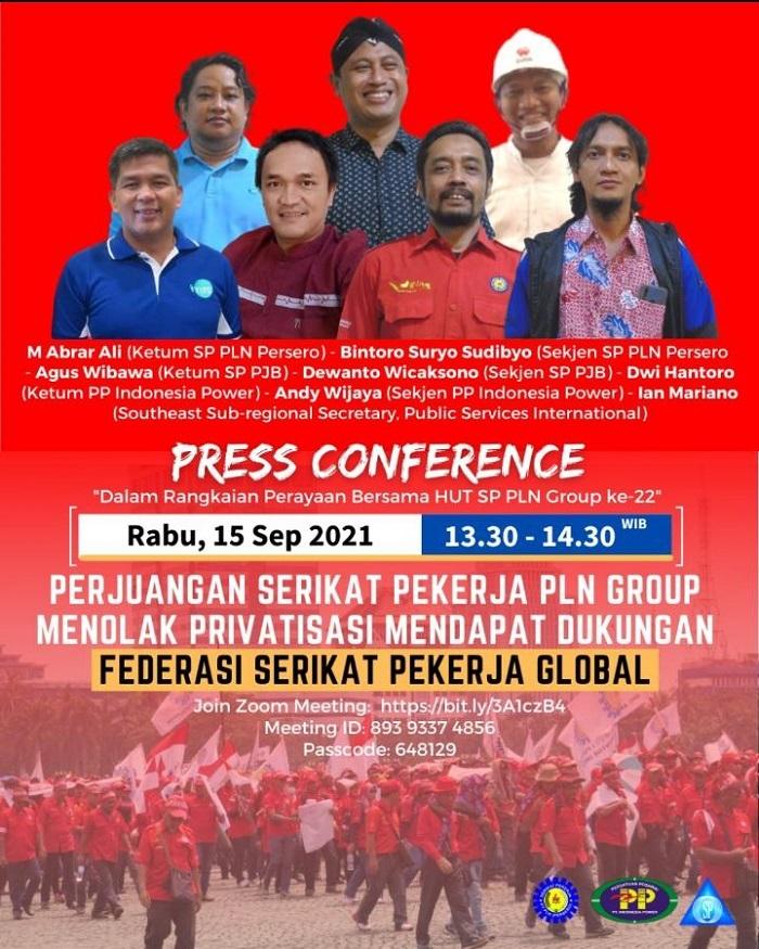 FSP Global, Public Services International (PSI) Dukung Perjuangan SP PLN  Group Tolak Privatisasi