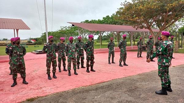 Prajurit Yonmarhanlan XI Merauke Pasmar 3 Ikuti Apel Gelar Pengamanan PON XX 2021 Papua