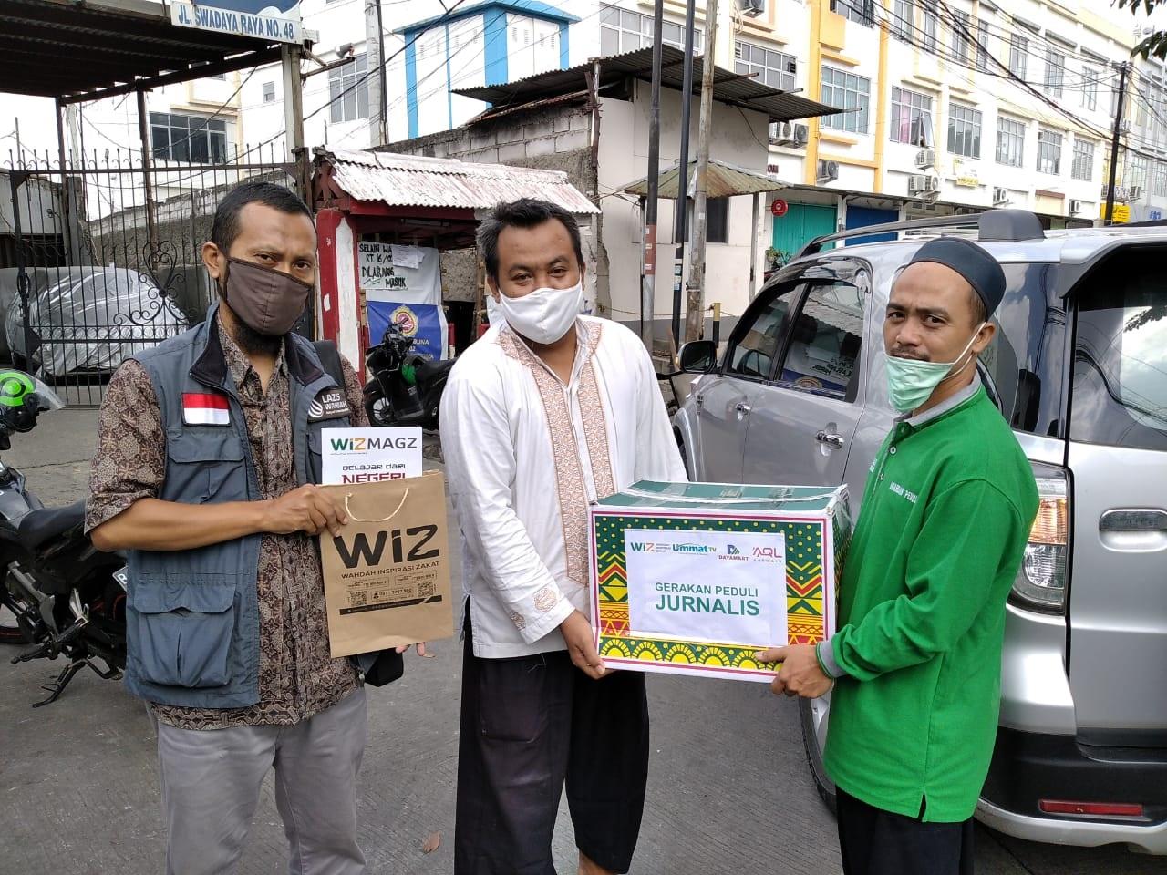 Paket Sembako untuk Jurnalis Muslim Terdampak Pandemi Covid-19 Disambut Suka Cita