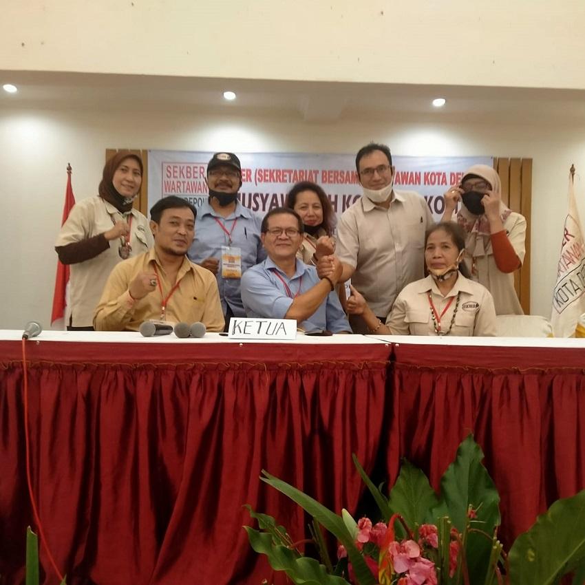 Tony Yusep Terpilih Sebagai Ketua dalam Muskot ke 1 Sekber Wartawan Kota Depok