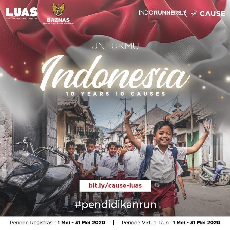 BAZNAS Bersama Indorunners dan Cause Gelar Program Amal Pendidikan Lewat Virtual Run
