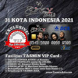 Tasmin Asia Support Stinky Band Tour 31 Kota Indonesia
