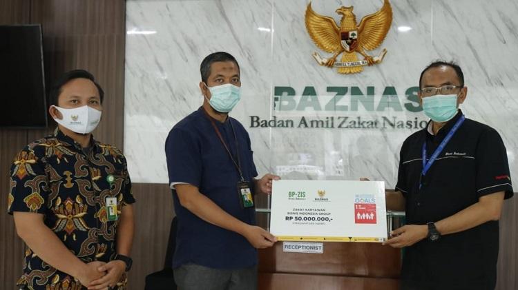 Bisnis Indonesia Group Salurkan Zakat melalui BAZNAS