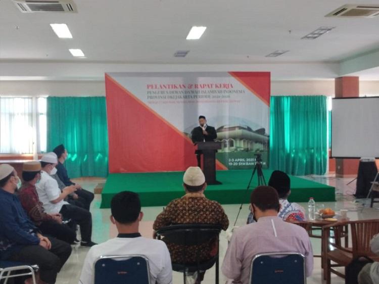 Adian Husaini Lantik Pengurus Dewan Da wah DKI Jakarta
