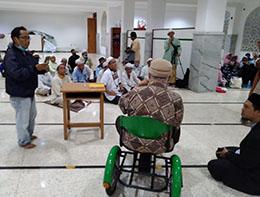 Masjid  Umar Bin Khattab Buka Bersama dengan Penyandang Disabilitas