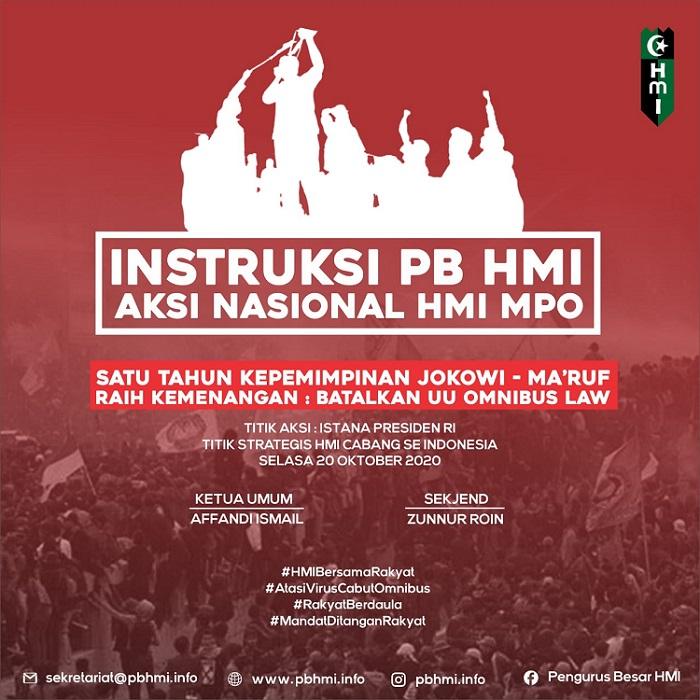 Satu Tahun Jokowi-Maruf, Batalkan UU Omnibus Law