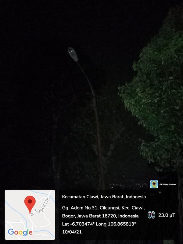 Sudah Hampir 2 tahun Lampu Penerangan jalan Mati .