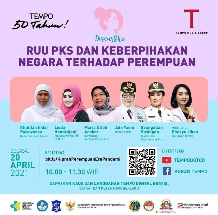 Lisda Hendrajoni, Masuk dalam 50 Perempuan Indonesia Paling Berpengaruh Versi Tempo