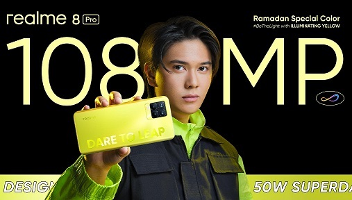 Tampil Bergaya di Lebaran dengan realme 8 Pro Illuminating Yellow dan realme Watch S Master Edition