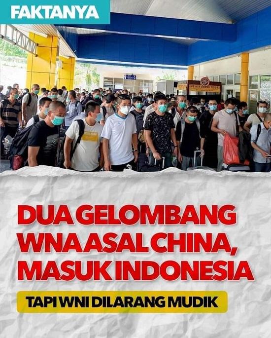 Larangan Mudik Dilarang Mestinya Berbanding Lurus Penghentian Impor TKA Cina